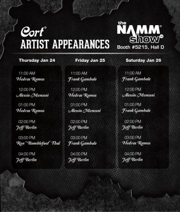 2019 namm artist schedule
